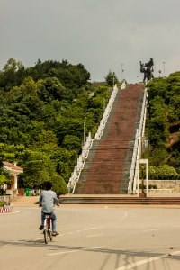 Steps leading to the Statue of Victory