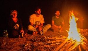 Fireside goofiness