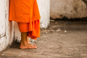 Cute monk feet
