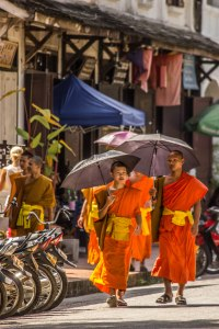 Monks on the street