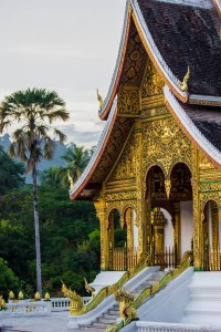 Buddhist temple at Haw Kham, the Royal Palace.