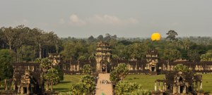 Looking towards the main entrance of Angkor Wat.