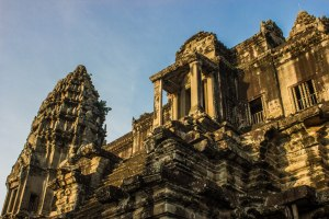Angkor from below.