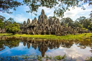 Reflection at Bayon.
