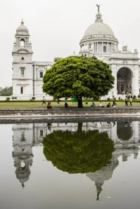 Reflection of the Victoria Memorial.