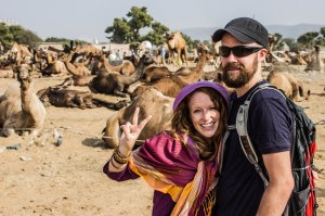 Yo camels! Peeeace. Photo by C. Labrousse.