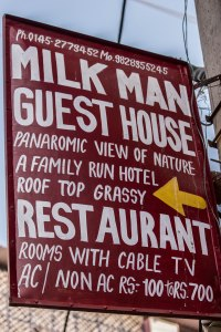 I always look for a panoramic view of nature and a roof top grassy in my Milk Man Guest House.
