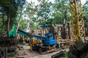 Reconstructing history at Ta Prohm.