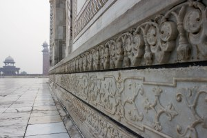 Beautiful carvings along the side.