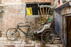 Cycle rickshaw.