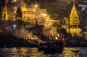 Manikarnika, the main cremation ghat.