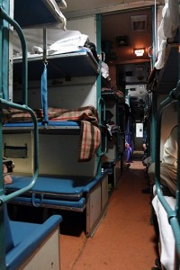Sleeper Class on Indian trains (PIcture by Gabriel Openshaw).
