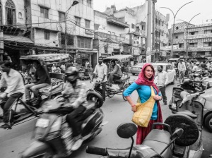 Colorful Jessie in the Chaos of Delhi (edited by Jessie Bryant).