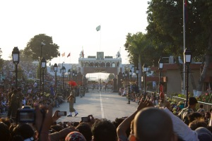 The Wagah border closing ceremony has begun!