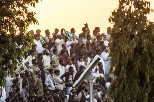 Pakistani spectators.