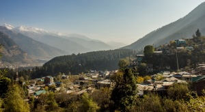 View from Old Manali across the valley.