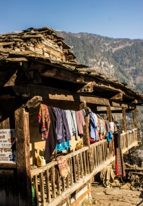 Typical house in Old Manali.