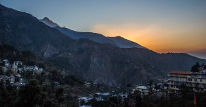 Sunrise over McLeod Ganj.