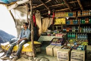 Parvinder chillaxin' at his shop.