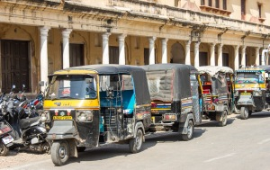 Autorickshaws.