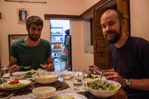 Nom nom home-cooked dinner.